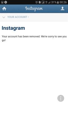 حذف اانت اینستاگرام وآموزش گام به گام