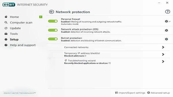 بخش Internet protection آنتی ویروس eset | رایانه کمک تلفنی