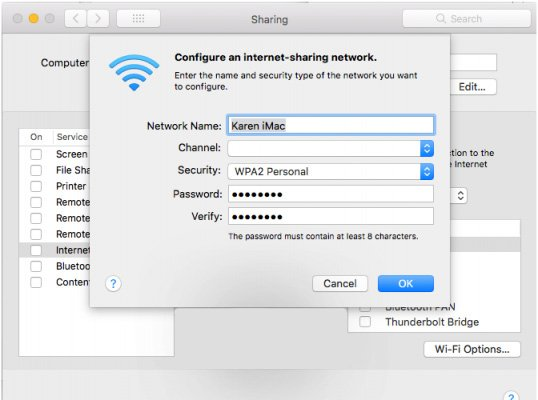 آموزش اشتراک گذاری اینترنت مک از طریق WiFi   رایانه کمک