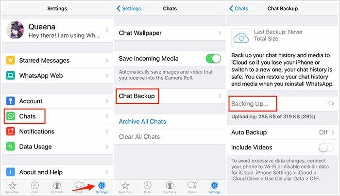 فعال کردن chat backup | رایانه کمک تلفنی