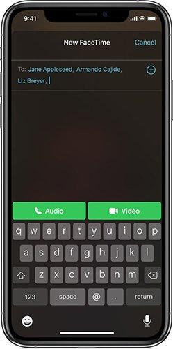 برقراری تماس تصویری FaceTime در ios 12   رایانه کمک