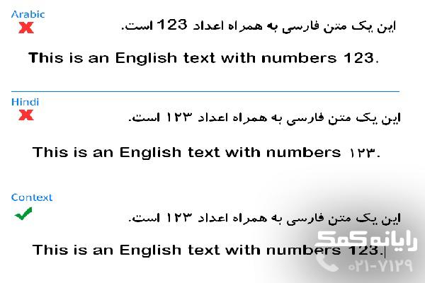 فارسی کردن اعداد در ورد2010 رایانه کمک