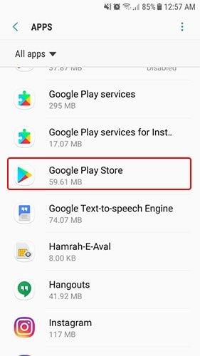 قسمت setting - apps | رفع مشکلات اندرویدی