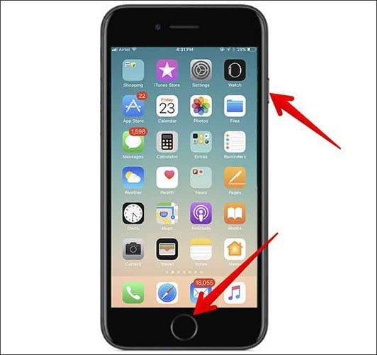 نحوه گرفتن اسکرین شات با آیفون | حل مشکلات تلفن همراه