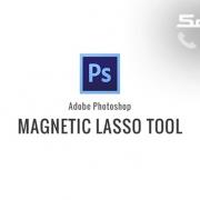 ابزار magnetic lasso در فتوشاپ رایانه کمک