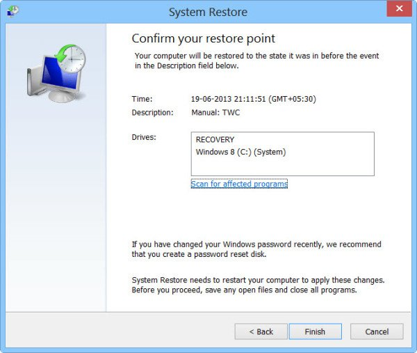 فعال کردن system restore | رایانه کمک