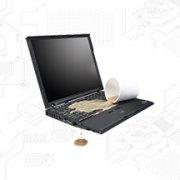 هنگام ریختن مایعات روی لپ تاپ چه کنیم؟ | رایانه کمک