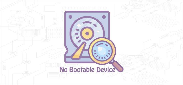 رفع مشکل No bootable device در لپ تاپ رایانه کمک