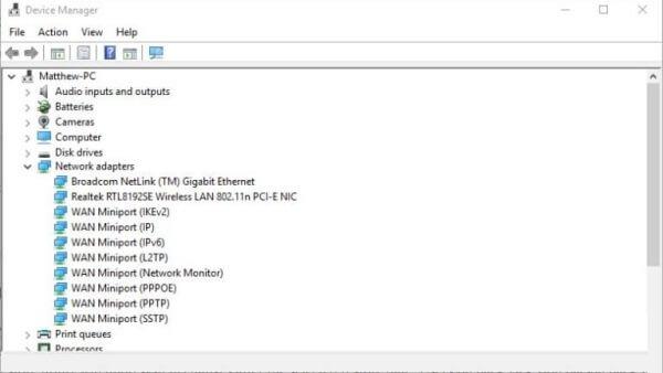 شناسایی کارت شبکه در ویندوز 10 | رایانه کمک تلفنی