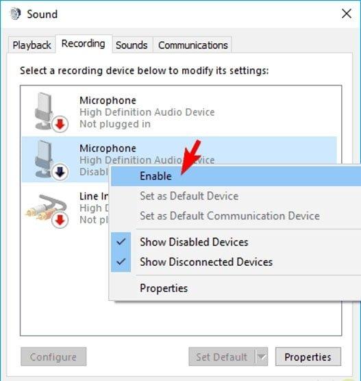 فعال کردن میکروفون ویندوز 10   رایانه کمک
