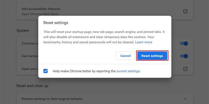 Reset settings   رایانه کمک
