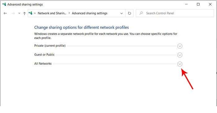 all networks | رفع مشکل پسورد شیرینگ شبکه