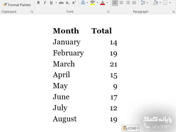 لینک اکسل به ورد پانتقال جدول اکسل به ورد 2013|رایانه کمک
