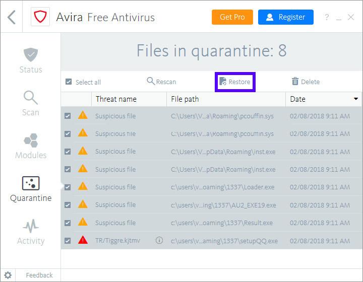 برگرداندن فایل های از حذف شده توسط انتی  حل مشکل و ارورهای کامپیوتری